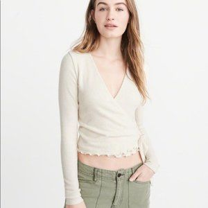 Abercrombie & Fitch Long Sleeve Wrap Sweater